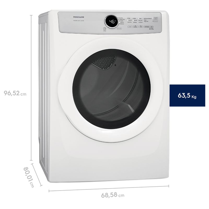 Gas-Dryer-21kg--_EFDG317TIW_Perspective_Dimensions_Frigidaire_English